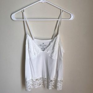 American Eagle tank with lace detail. NWOT! Size S